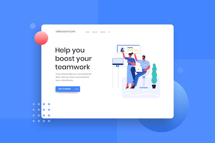 Thumbnail for Good review for clients Landing Page illustration