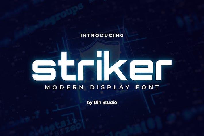 Thumbnail for Striker-Modern Display Font
