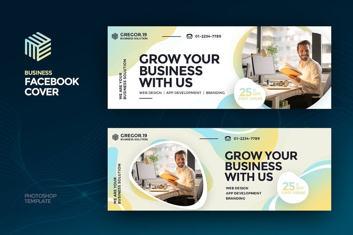 Thumbnail for Gregor19 Business Facebook Cover Template