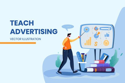 Teach Advertising - Vector Illustration