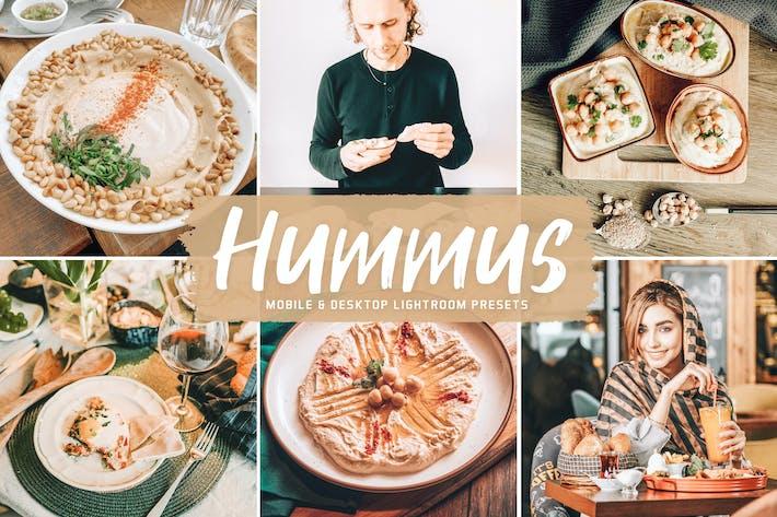 Пресеты Lightroom для мобильных и настольных ПК Hummus