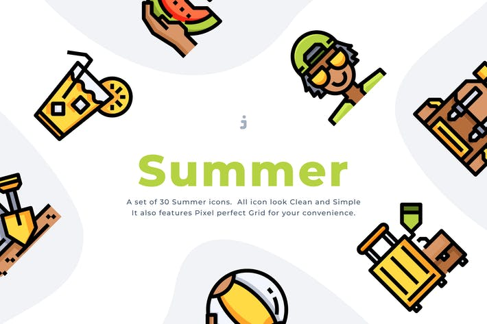 Thumbnail for 30 Summer Time Icon set