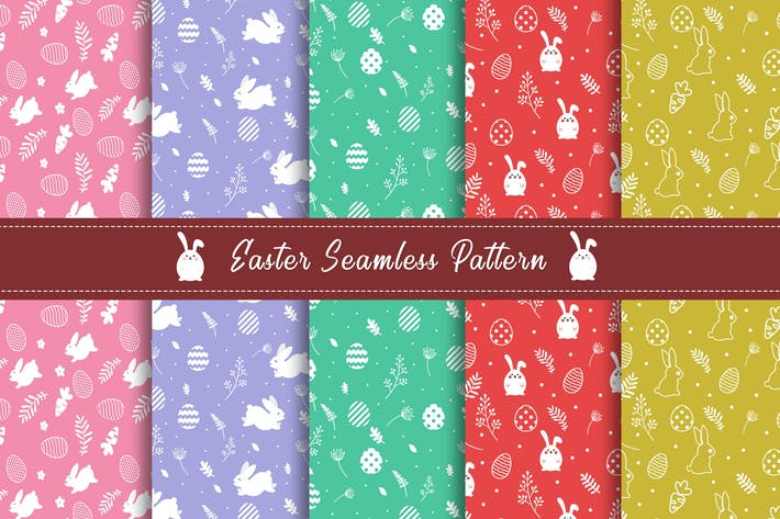 Thumbnail for Easter Seamless Pattern Collection