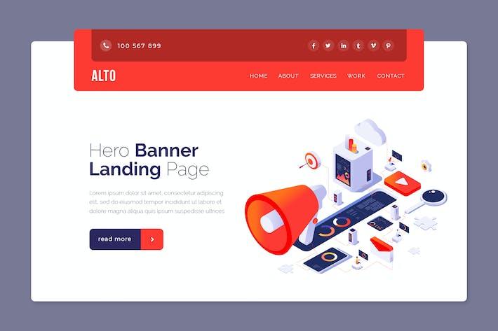 Thumbnail for Alto - Hero Banner Template