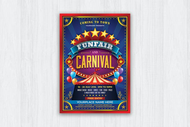 Funfair & Carnival Flyer - product preview 0