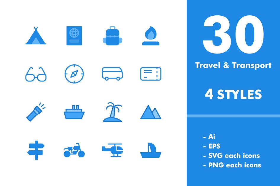 Download Travel & Transportation Icon Set by deemakdaksinas