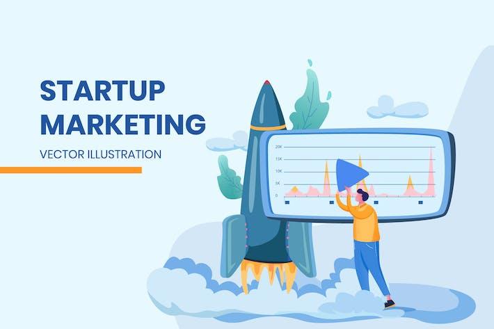 Thumbnail for Startup Marketing- Vector Illustration