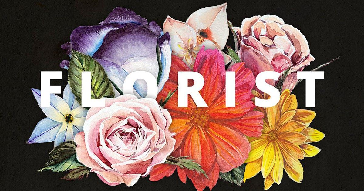 Download Florist: Watercolor Flowers Set by Oxana-Milka