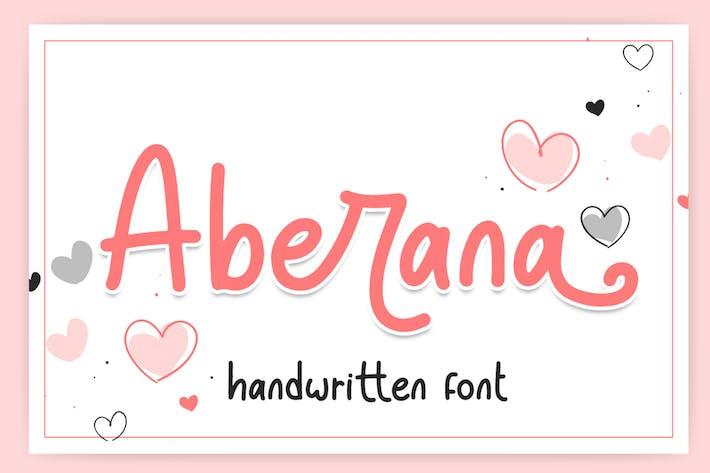Аберана - Прекрасный шрифт