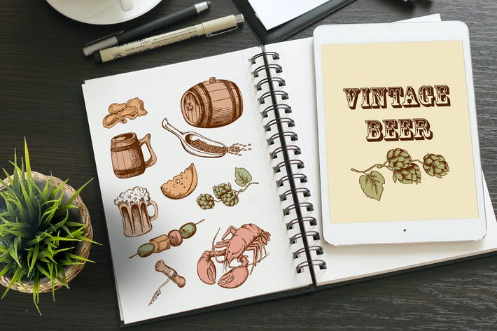 Thumbnail for Set of Vintage Beer