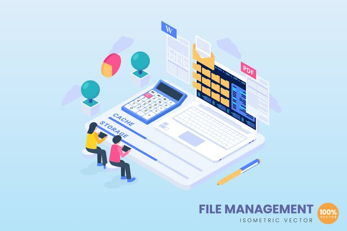 Thumbnail for File Management Concept Illustration