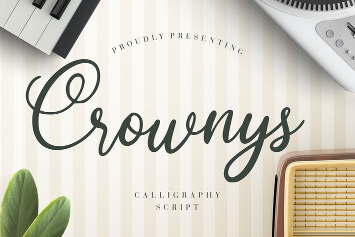 Thumbnail for Crownys Calligraphy Script