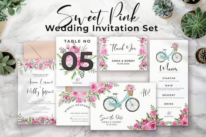 Thumbnail for Sweet Pink - Wedding Invitation Set