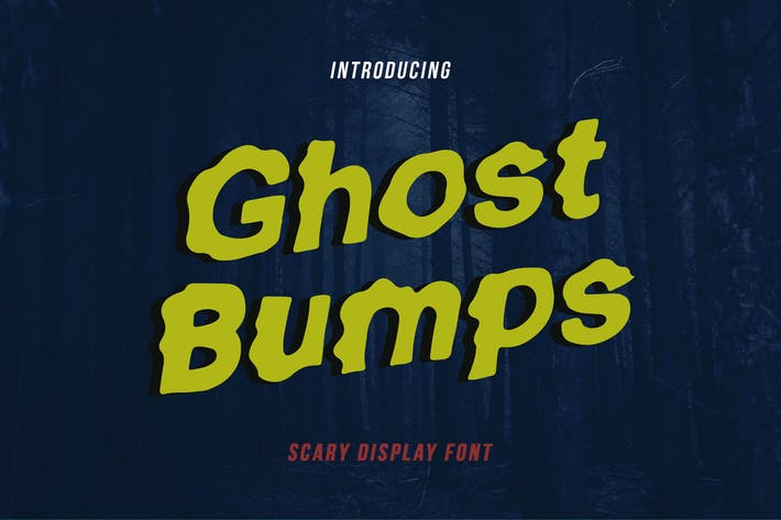 Thumbnail for Ghostbumps - Scary Display Font RG