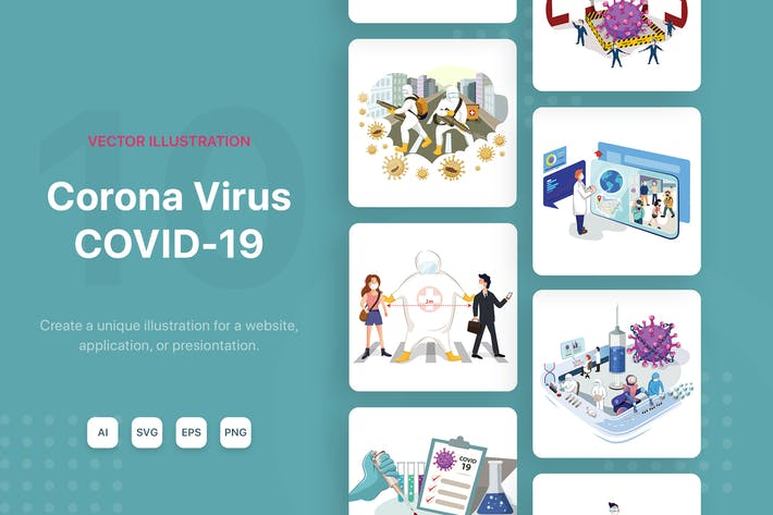 Cover Image For Corona Virus - COVID19 Illustrations