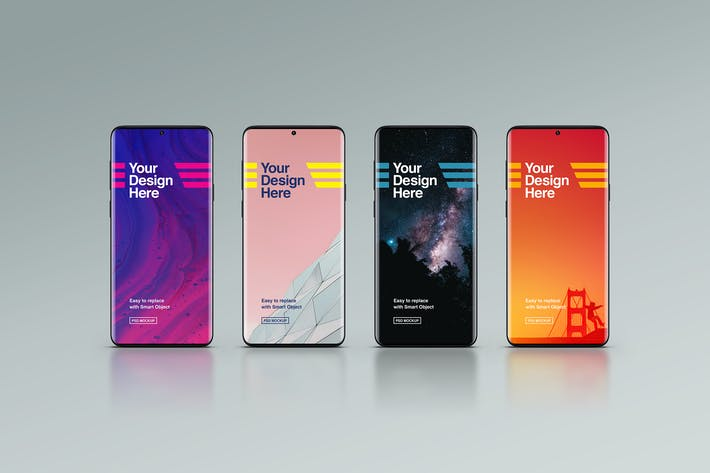 Thumbnail for Schwarze Smartphone-Mock-ups