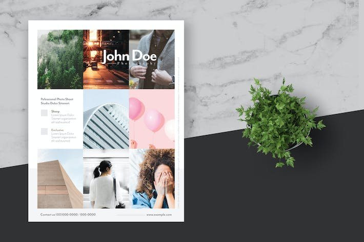 Thumbnail for Clean and Minimal Photo Flyer Poster