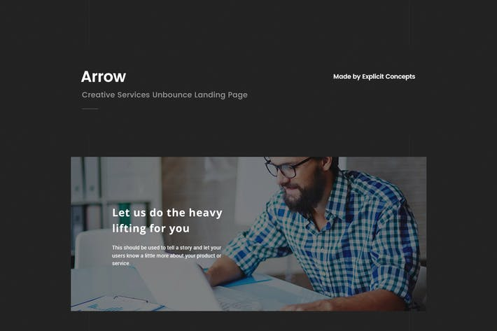Thumbnail for Arrow | Creative Unbounce Landing Page