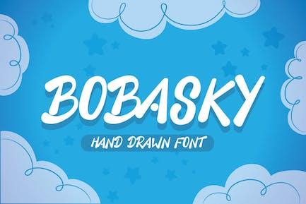 Bobasky - Unique Hand Drawn Font