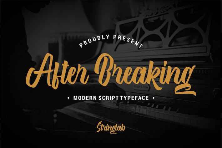 Thumbnail for After Breaking - Modern Script Typeface