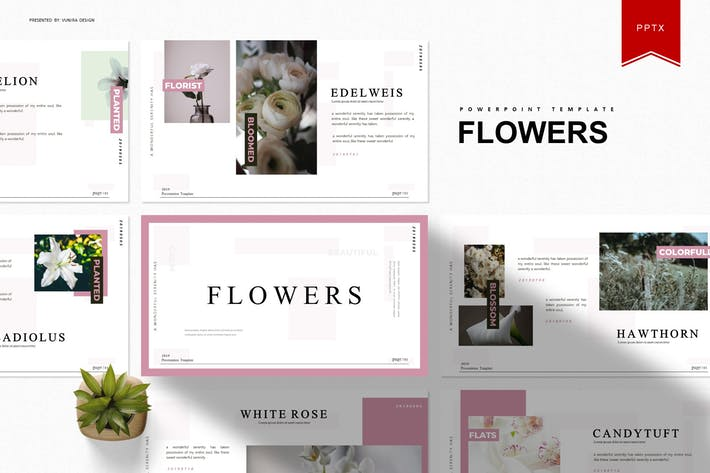 Thumbnail for Flowers | Powerpoint Template