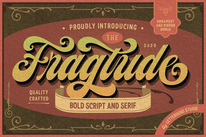 Thumbnail for Fragtude - Vintage Display Typeface