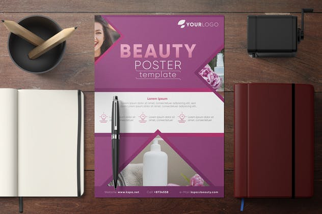 Beauty & Spa Poster Template