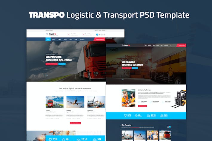 Thumbnail for TRANSPO - Logistic & Transport PSD Template