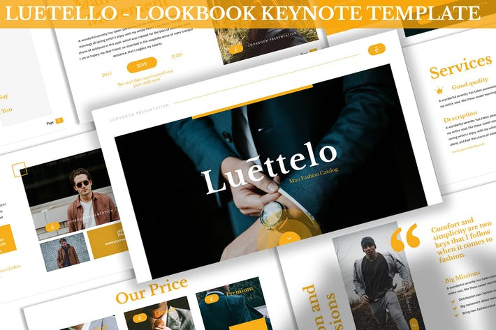 Thumbnail for Luettello - Lookbook Keynote Template