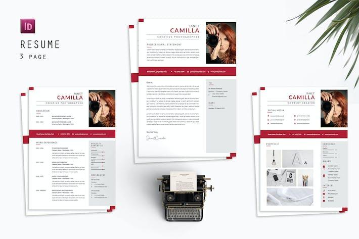 Thumbnail for Janet Camilla Resume Designer