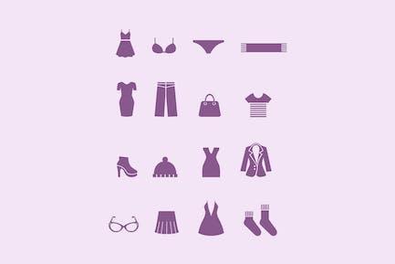 16 Damen Kleid Icons