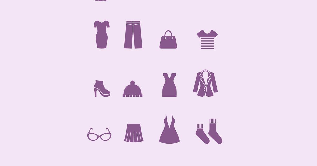 16 Womens Dress Icons by creativevip