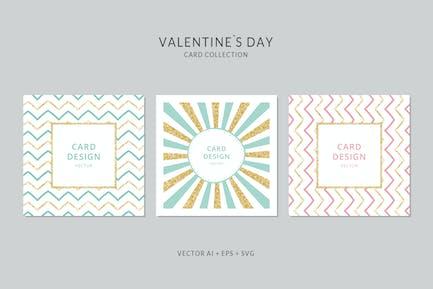 Sparkling Square Vector Card Set