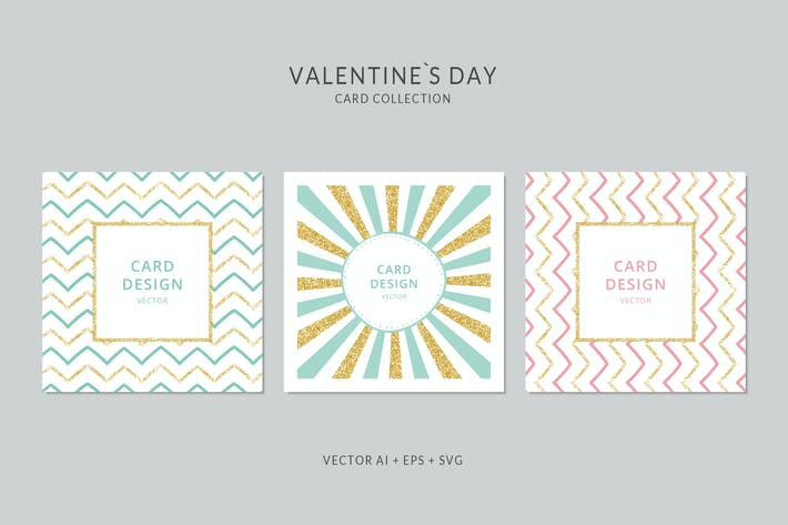 Thumbnail for Sparkling Square Vector Card Set