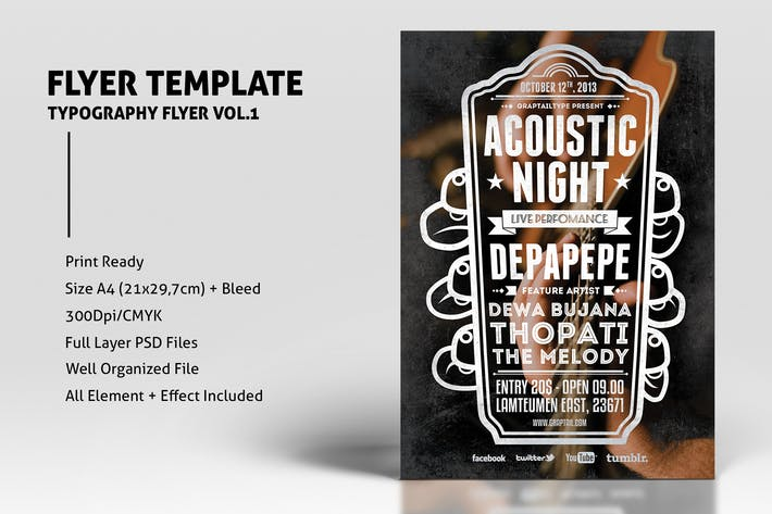 Thumbnail for Typography Flyer Vol.1
