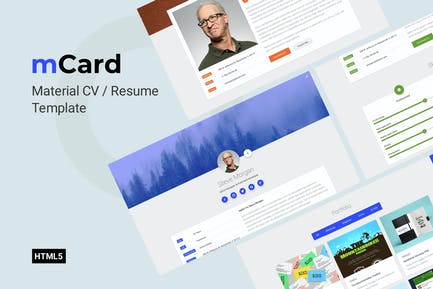 mCard - vCard Template