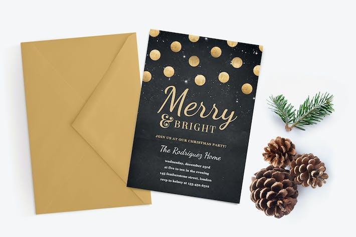 Thumbnail for Золото Confetti Рождественская вечеринка Приглашение