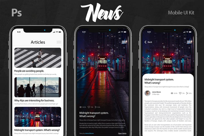 Thumbnail for News Mobile UI Kit