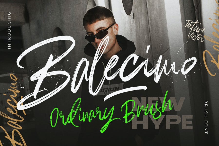Balecimo - Ordinary Brush Font Logotype