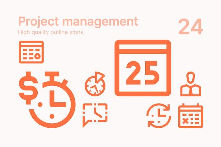Thumbnail for Icons für die Projektverwaltung