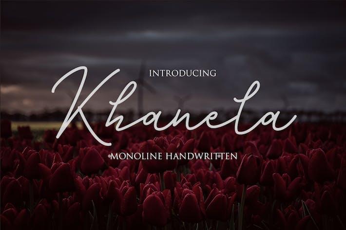 Thumbnail for Khanela - Monoline Handwritten Font