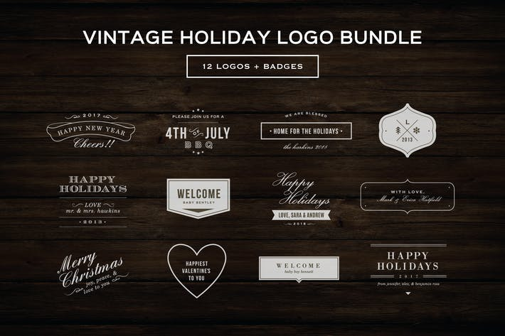Thumbnail for Vintage Holiday Logos