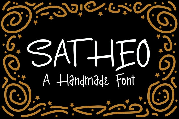 Thumbnail for Satheo - A Handmade Font