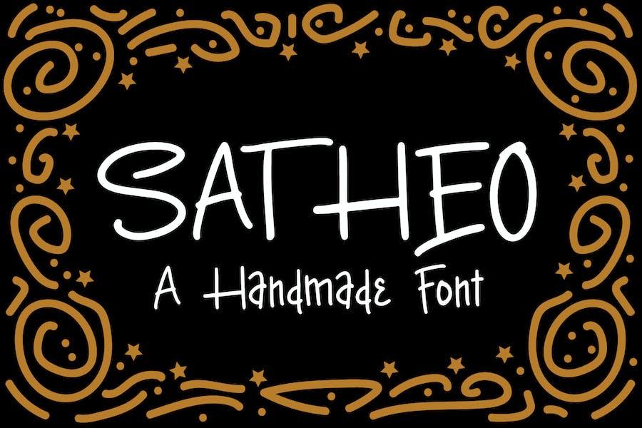 Satheo - A Handmade Font