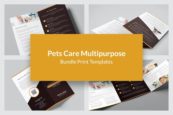 Thumbnail for Pets Care – Bundle Print Templates 5 in 1