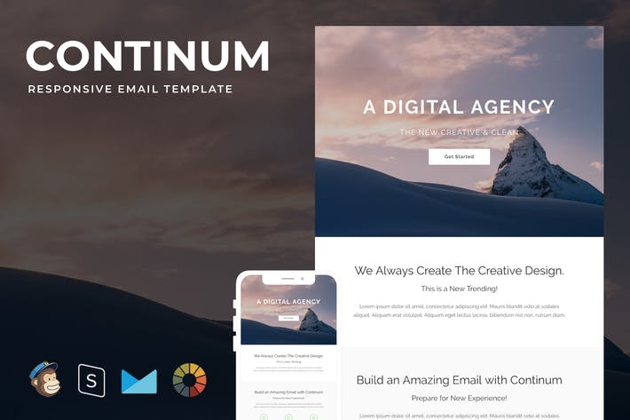 Thumbnail for Continum - Responsive Email + StampReady Builder