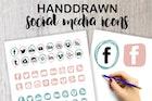 Handdrawn Social Media Icons
