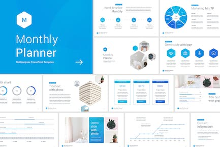 Monthly Planner PowerPoint Template