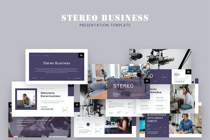 Стерео бизнес Google слайд-презентация