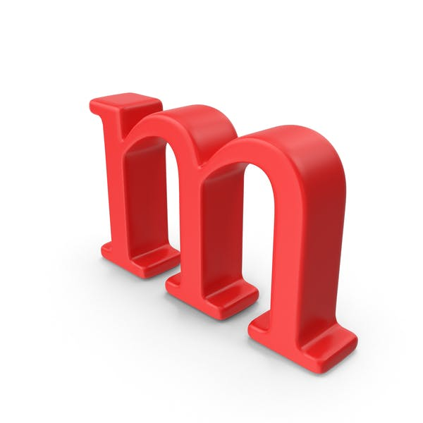 Red Small Letter M